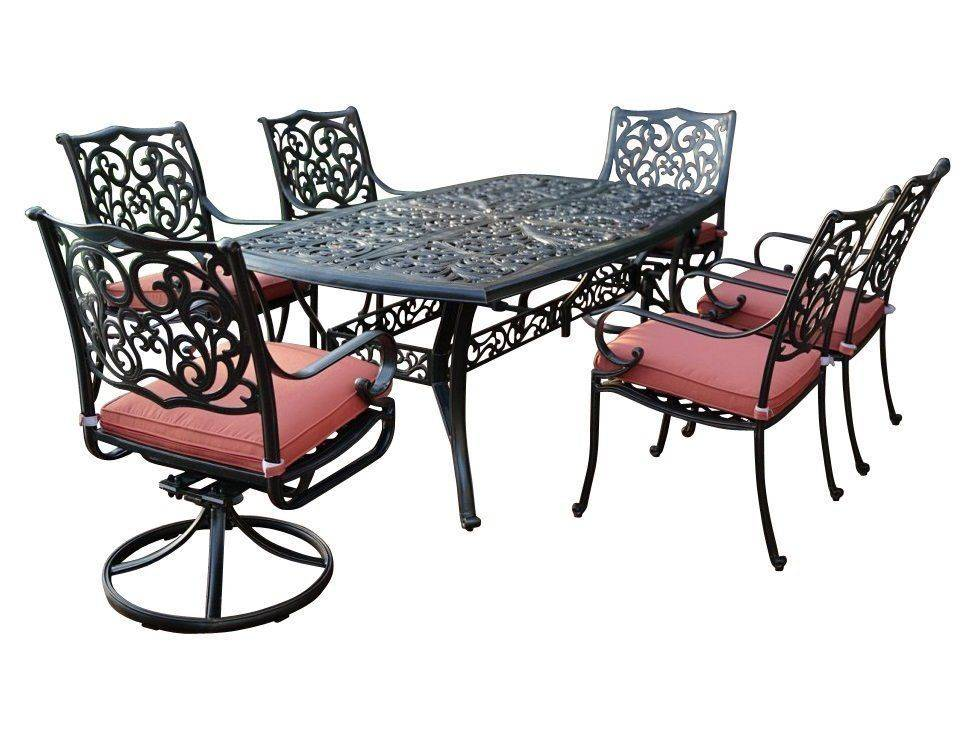 комплект садовой мебели из литого алюминия барселона